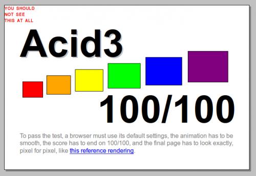 Firefox 35 mit Problemen im ACID3-Test